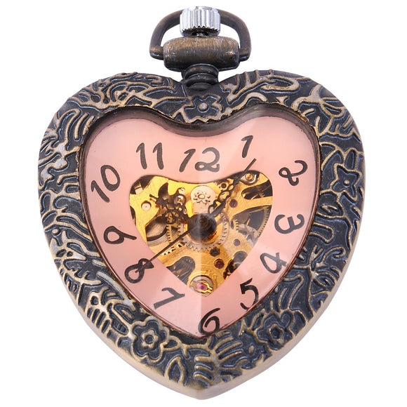 Romantic Red Dial Pocket Gift Watch