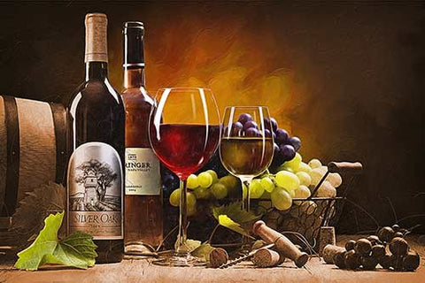 a painting of wine