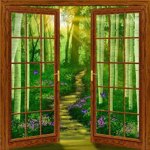doorway to dreams 80 quot x 84 quot french door wall mural