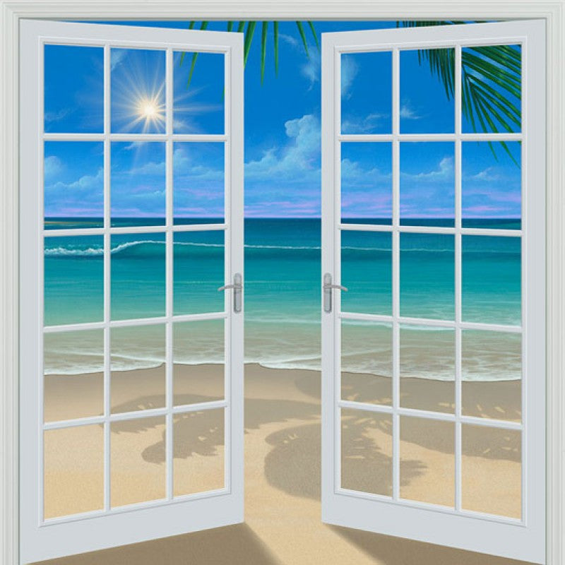Doorway to Paradise 80 x 84 French Door Wall Mural Murals 101