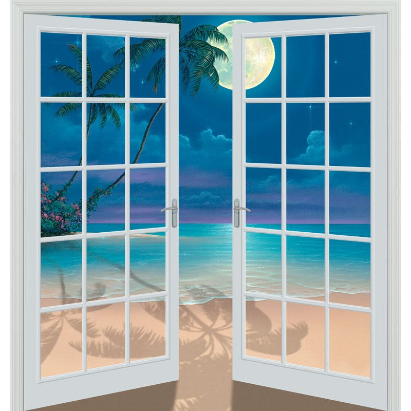 Moon Shadows 80 x 84 French Door Wall Mural Murals 101