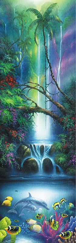 enchanted waters dolphin poster 24 x 36 murals 101