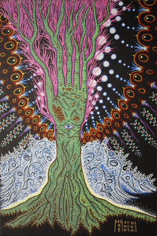 Garden of Eden, art - Michael Garfield Visionary Art (michaelgarfieldart.com)