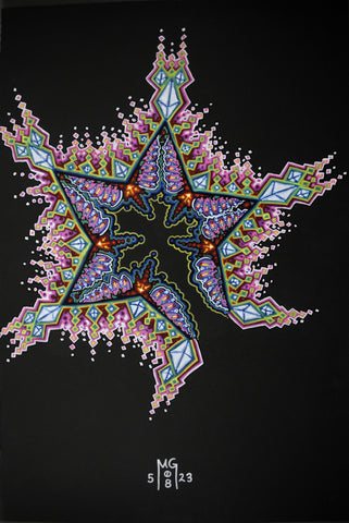 Jam Star, art - Michael Garfield Visionary Art (michaelgarfieldart.com)