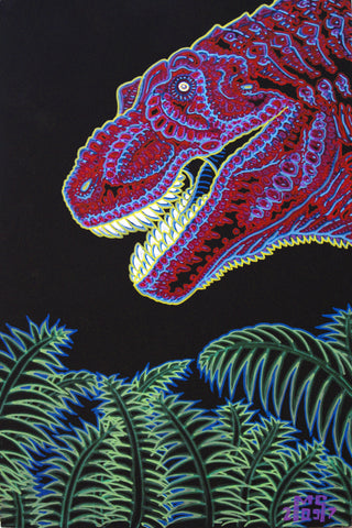Never Too Old For Dinosaurs, art - Michael Garfield Visionary Art (michaelgarfieldart.com)