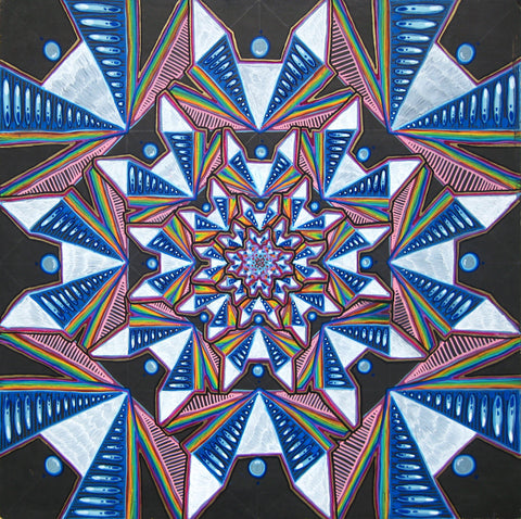 Harmonic Decomposition of a Square, art - Michael Garfield Visionary Art (michaelgarfieldart.com)