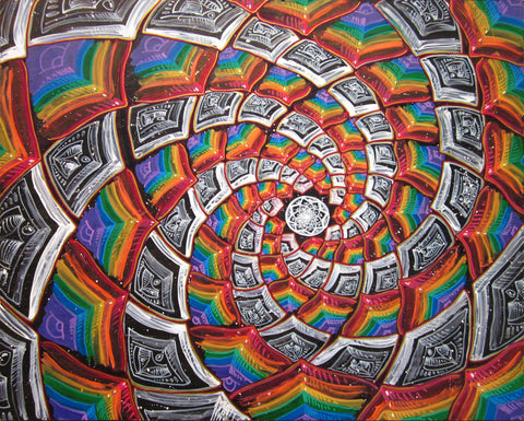 Tunnel To The Moon, art - Michael Garfield Visionary Art (michaelgarfieldart.com)