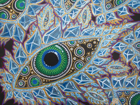 Crystal Eyes, art - Michael Garfield Visionary Art (michaelgarfieldart.com)