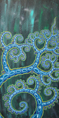 Tree of Flowing Jewels, art - Michael Garfield Visionary Art (michaelgarfieldart.com)