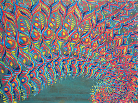 Rainbow Tunnel, art - Michael Garfield Visionary Art (michaelgarfieldart.com)