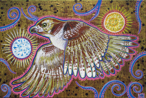 Soaring (Red-Tailed Hawk), art - Michael Garfield Visionary Art (michaelgarfieldart.com)