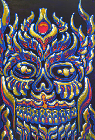 Optimus De Los Muertos, art - Michael Garfield Visionary Art (michaelgarfieldart.com)