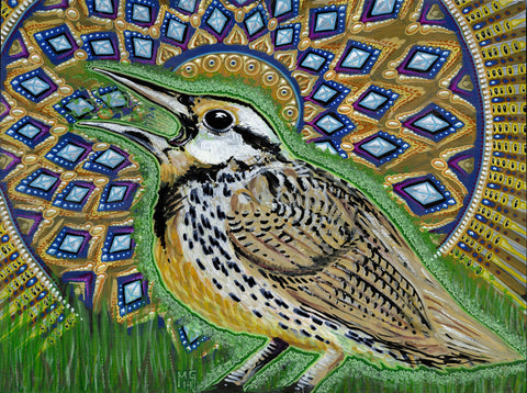 You've Got A Song In Your Heart (Western Meadowlark), art - Michael Garfield Visionary Art (michaelgarfieldart.com)