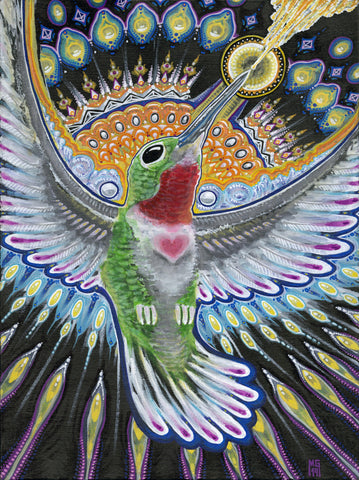 Beija Flor, art - Michael Garfield Visionary Art (michaelgarfieldart.com)