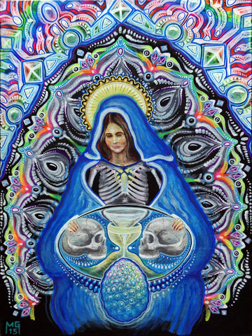 Our Lady of Cosmic Reproduction, art - Michael Garfield Visionary Art (michaelgarfieldart.com)