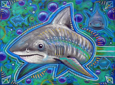 Shark Week All The Time, art - Michael Garfield Visionary Art (michaelgarfieldart.com)