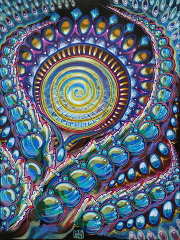 Psych Rock Thistle, art - Michael Garfield Visionary Art (michaelgarfieldart.com)