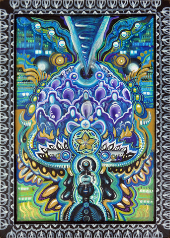 Violet Inflorescence, art - Michael Garfield Visionary Art (michaelgarfieldart.com)