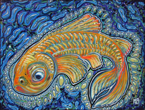 Lucky Fish, art - Michael Garfield Visionary Art (michaelgarfieldart.com)