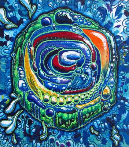 Portal Pudding, art - Michael Garfield Visionary Art (michaelgarfieldart.com)