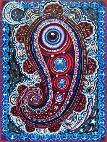 Magic Eye Paisley, art - Michael Garfield Visionary Art (michaelgarfieldart.com)
