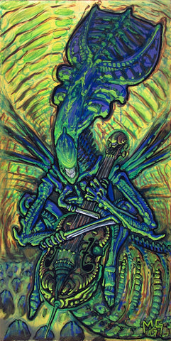 """Queen of Swords"" Xenomorph Alien Queen w/ Cello"