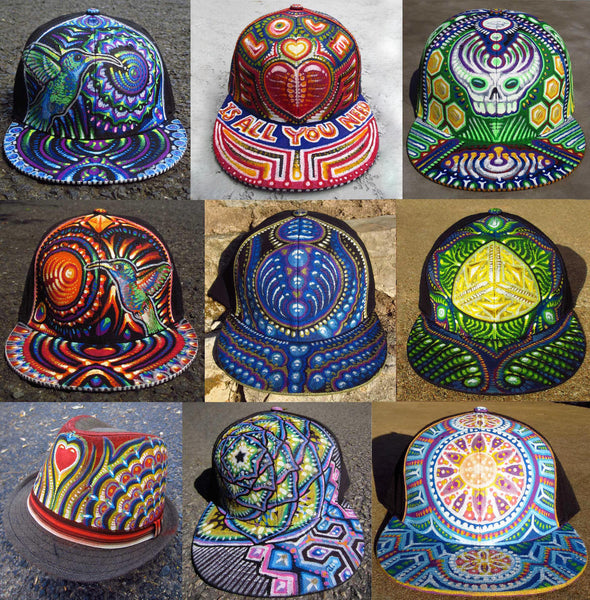 One-Of-A-Kind Custom Painted Hats – michaelgarfield 2d4d40d4508