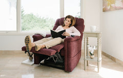 Pride Legacy VivaLift Power Lift Recline Woman Reading