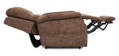 Pride Metro VivaLift Power Lift Recliner Brown in flat position