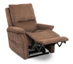 Pride Metro VivaLift Power Lift Recliner Brown with footrest up
