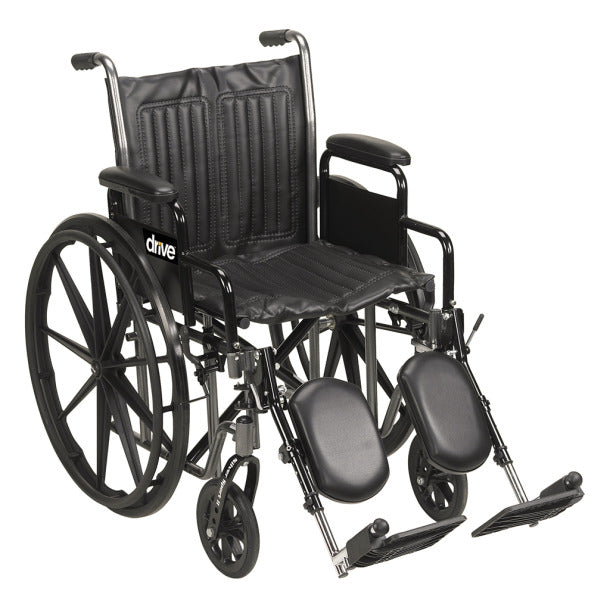 "Silver Sport 2 - 16"" Manual Wheelchair, Desk Arms, Elevating Legrests - MEDability"