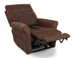 Pride Urbana VivaLift Power Lift Recliner Granite in reading position