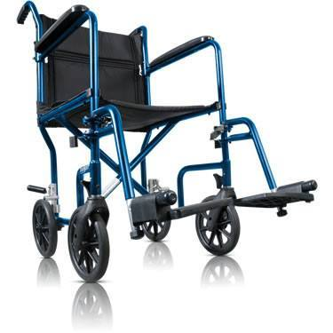 AMG Transport Wheelchair Blue