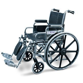 AMG Wheelchair with Flip Up Armrest and Elevating Leg Rest