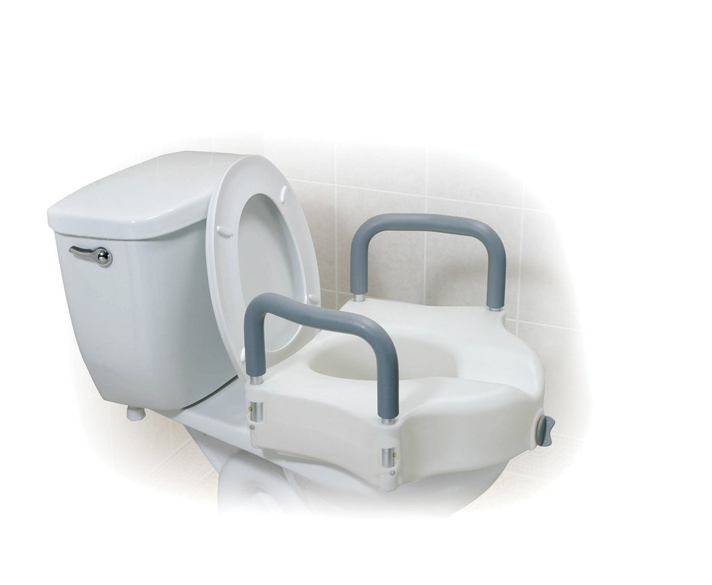 Drive Medical Raised Toilet Seat With Arms - MEDability Healthcare Solutions