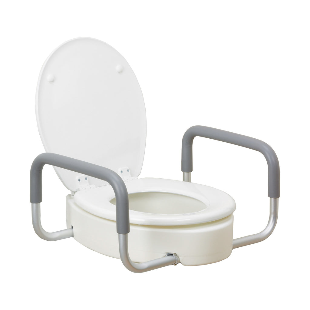 Drive Premium Raised Toilet Seat with Removable Arm, Elongated - MEDability Healthcare Solutions