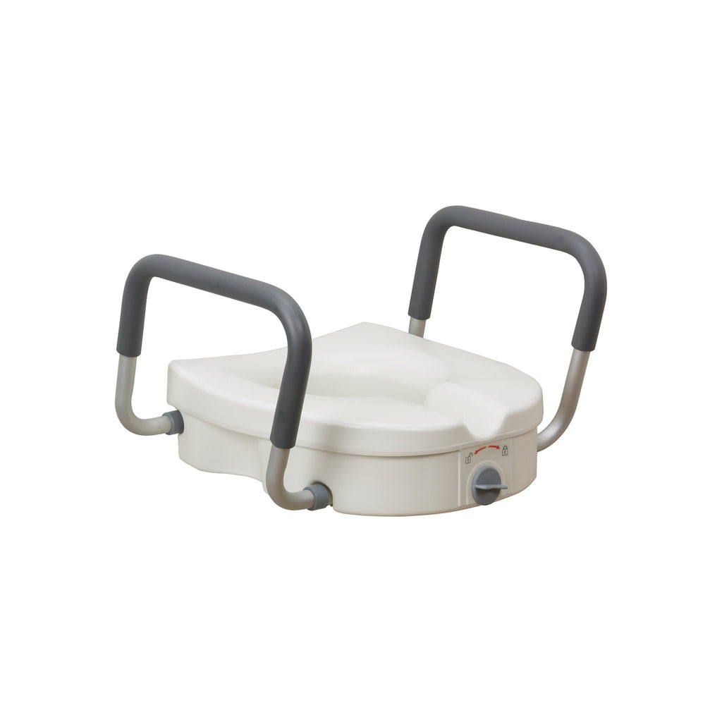 Elevated Toilet Seat With Removable Transfer Arms - MEDability Healthcare Solutions