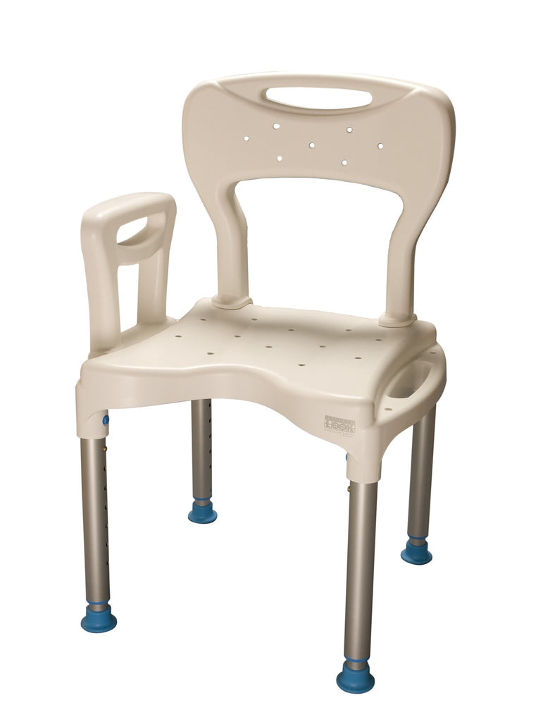 Human Care Large Shower Seat With Back & Arm - MEDability Healthcare Solutions