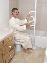 Stander Security Pole & Curve Grab Bar - MEDability Healthcare Solutions