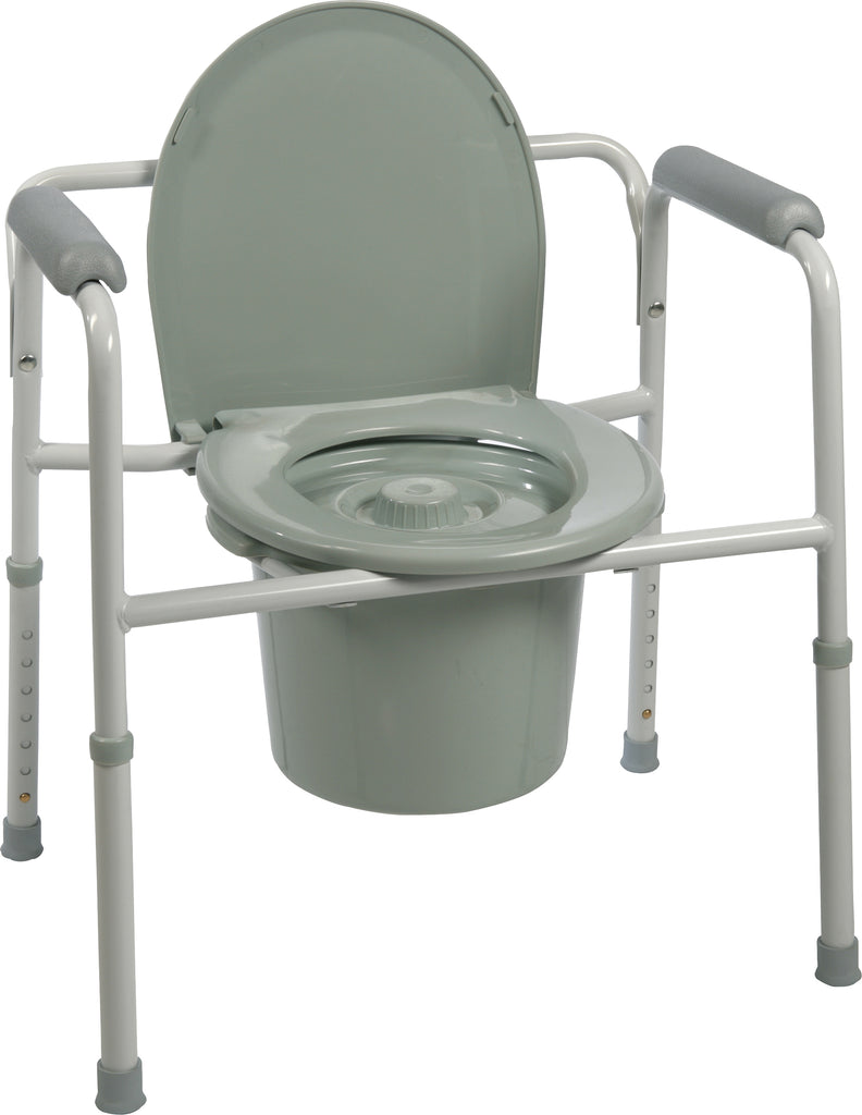 3 in 1 Steel Stationary Commode - ProBasics - MEDability