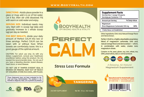 Perfect CALM Label - 16oz - Tangerine Flavor