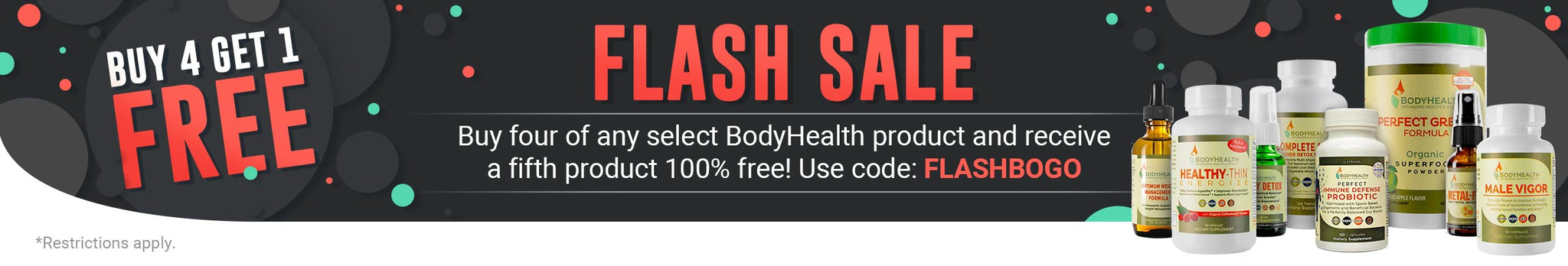 Flash Sale - Buy 4 Get 1 Free for 20% savings on these amazing products!