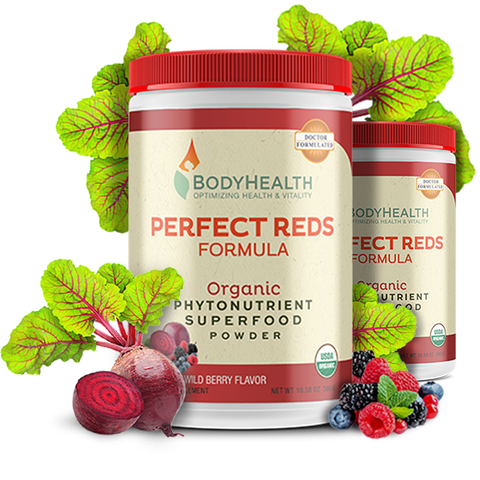 BodyHealth Perfect Reds Organic Phytonutrient Superfood formula | Boost nitric oxide, antioxidants, reduce inflammation