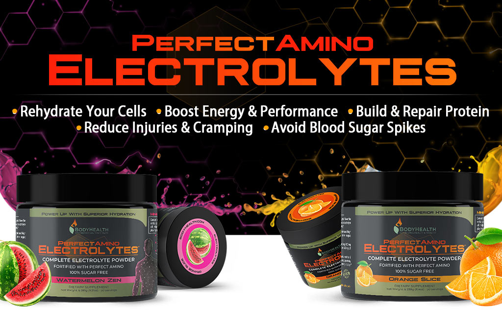 PerfectAmino Electrolytes - Delicious formulas in two delicious flavors