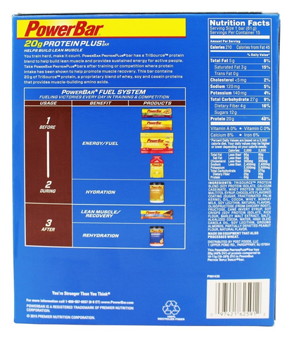 Power Bar Nutrition Facts Label Showing 20 grams of protein - really only equivalent to 3.2 grams of protein plus lots of added junk