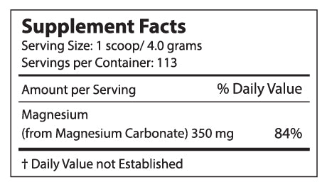 Perfect CALM 16oz supplement facts
