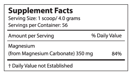 Perfect CALM 8oz supplement facts