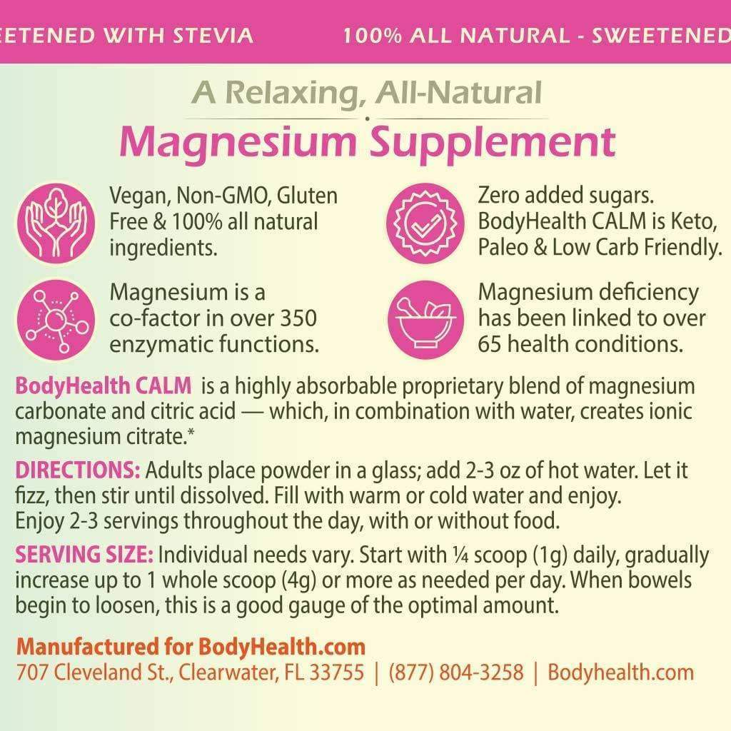 BodyHealth BodyHealth CALM Perfect Calm Relaxation Enhancing All-Natural Organic Magnesium Drink