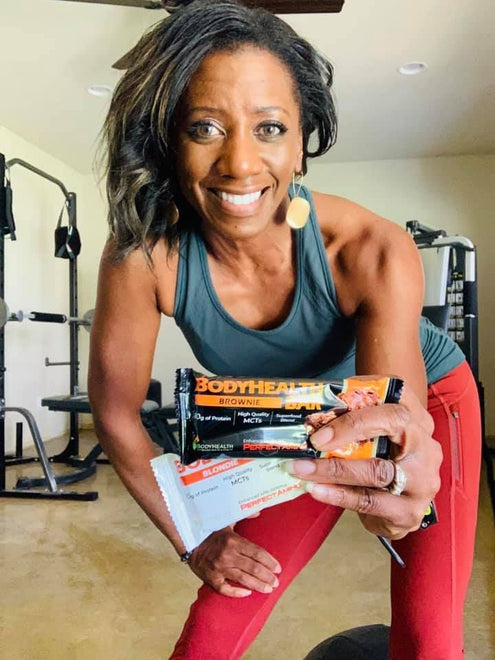 Francene with the new BodyHealth Bars