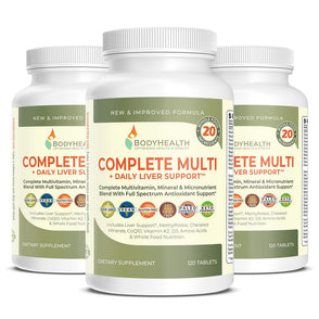 BodyHealth Complete Multi and Daily Liver Support pack of 3